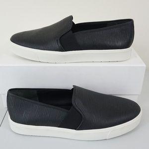 VINCE Blair Women's Slip On Sneakers Black Leather